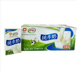 伊利 纯牛奶 250ml*16/箱 早餐