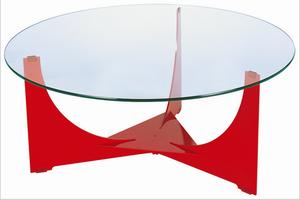 专业定制加工圆形钢化玻璃桌面玻璃餐桌