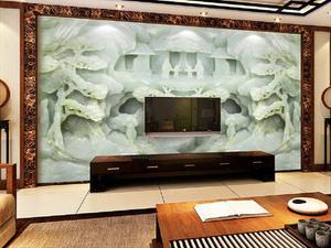 厂家提供彩雕背景墙 仿玉雕背景墙 彩绘背景墙可批发 代理
