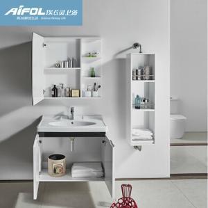 埃飞灵实木板防水浴室柜 实木浴室柜储物柜组合