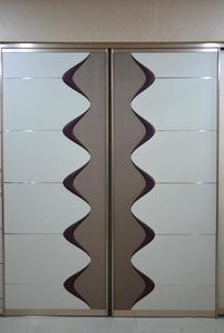 现代原木色趟门衣柜2米推拉门大衣柜 烤漆衣柜 移门