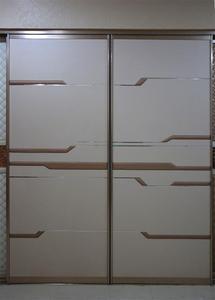 推拉门整体移门大衣柜卧室双趟门木质衣橱家具加顶柜