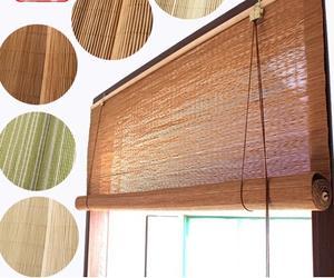 定制竹帘窗帘卷帘门帘遮光遮阳隔断阳台卫生间办公室通