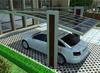 供应高品质双立柱铝合金车棚  单车位车棚