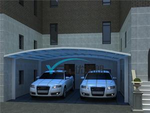 供应高品质铝合金车棚   别墅车棚  合抱式车棚