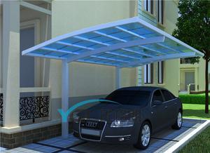 供应高端铝合金车棚 别墅车棚 单边式车棚