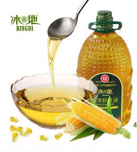 冰地玉米胚芽油非转基因食用油纯正玉米油物理压榨4L