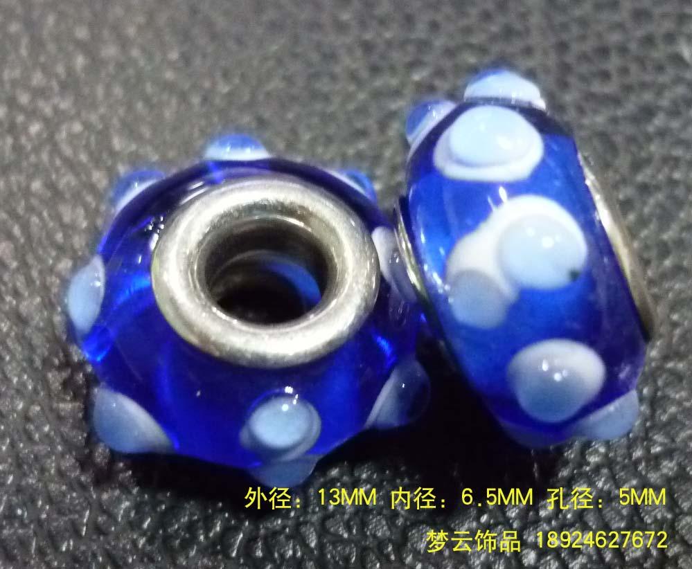 潘多拉珠子 大孔琉璃珠 硬料、软料千花图片七
