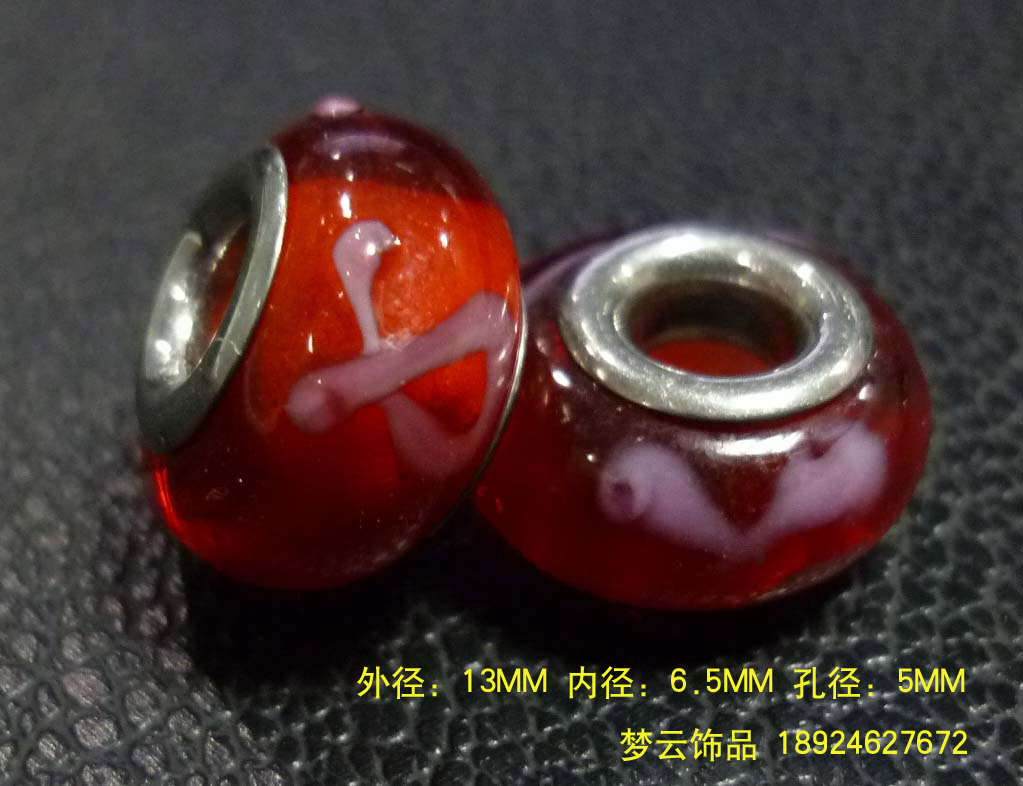 潘多拉珠子 大孔琉璃珠 硬料、软料千花图片九