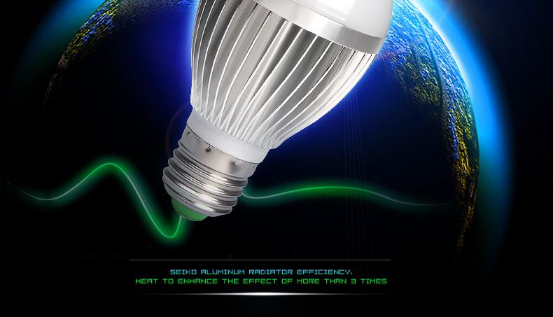 LED车铝3W球泡灯 LED球泡灯 螺口E27 节图片二