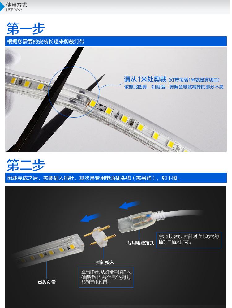 LED灯带 超亮防水5050灯珠灯带 LED节能软图片三