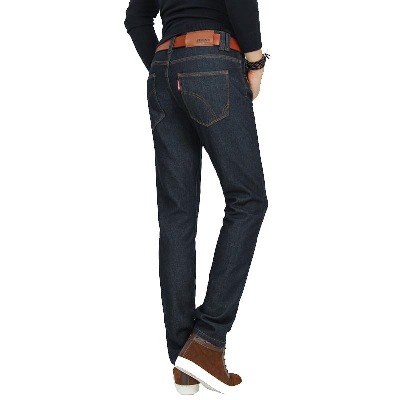 新塘加绒牛仔裤48元批发 修身男士牛仔裤 加厚保暖长裤图片二