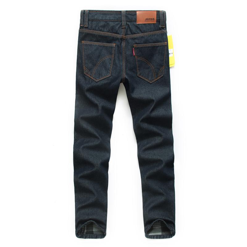 新塘加绒牛仔裤48元批发 修身男士牛仔裤 加厚保暖长裤图片五