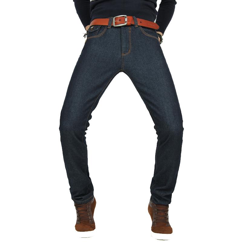 新塘加绒牛仔裤48元批发 修身男士牛仔裤 加厚保暖长裤图片一