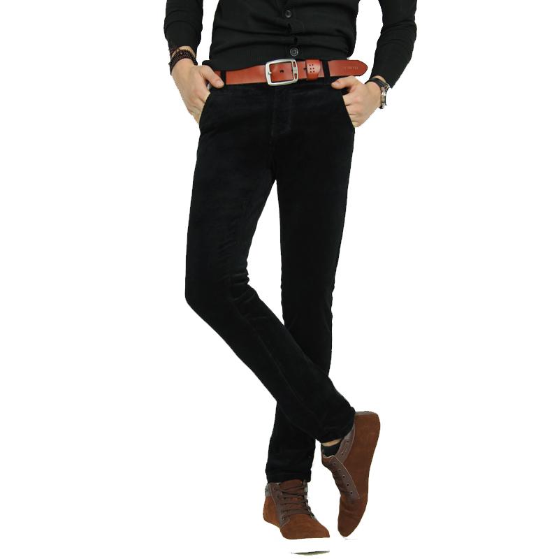 新品推荐 男装简约休闲裤 修身灯芯绒长裤 批发代理图片二