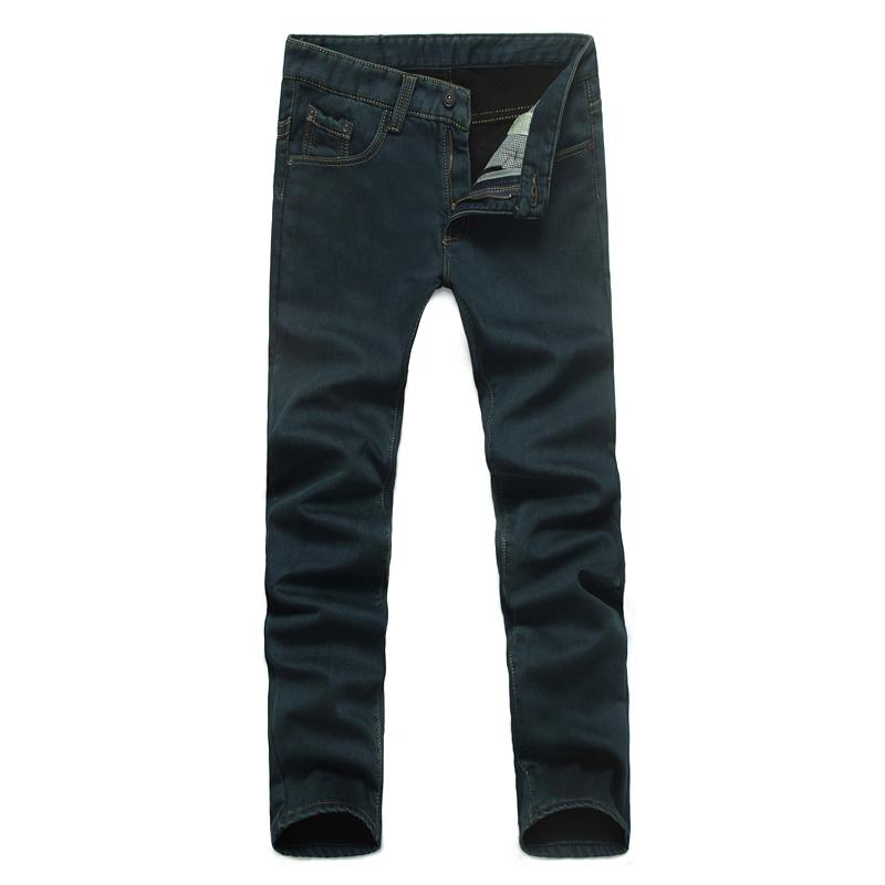 批发加绒牛仔裤男 加厚修身牛仔长裤 批发零售图片五