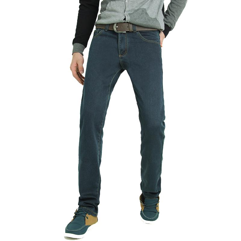 批发加绒牛仔裤男 加厚修身牛仔长裤 批发零售图片二