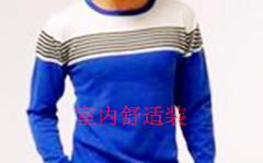 男装间色圆领长袖毛衣 针织衫图片四