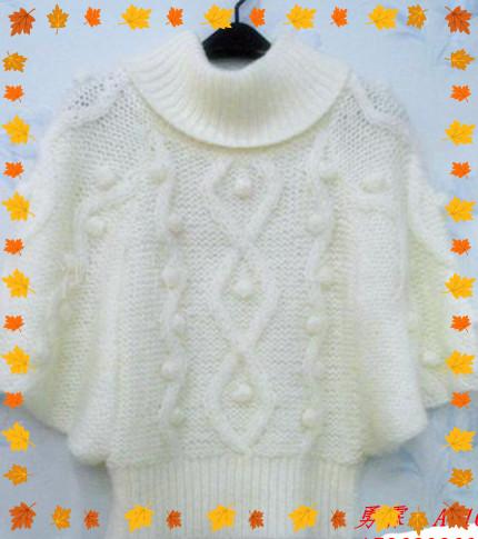 女装新潮蝙蝠毛衣 针织衫图片三