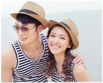 韩版太阳沙滩情侣帽个性搭配