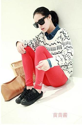 新款韩版秋冬女装中长款毛衣欧美十字针织衫毛衫图片七