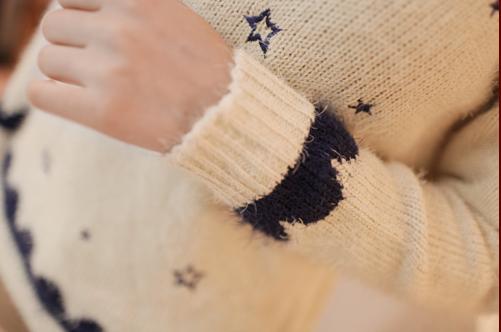 日系甜美小清新毛衣毛韩版宽松打底套头衫图片九