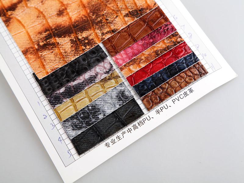 厂价直销S-0851印刷石头纹PU人造革/合成革图片二