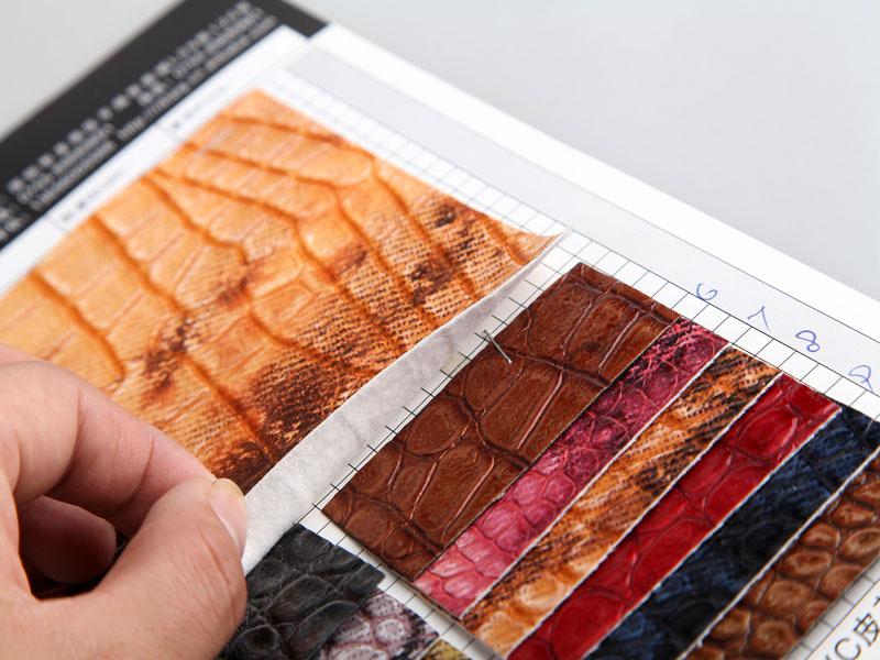 厂价直销S-0851印刷石头纹PU人造革/合成革图片四
