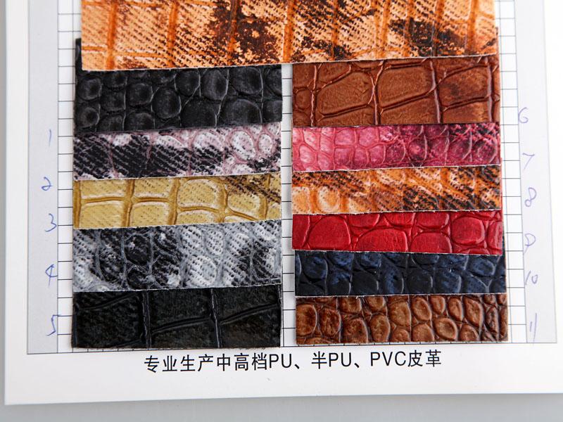 厂价直销S-0851印刷石头纹PU人造革/合成革图片三