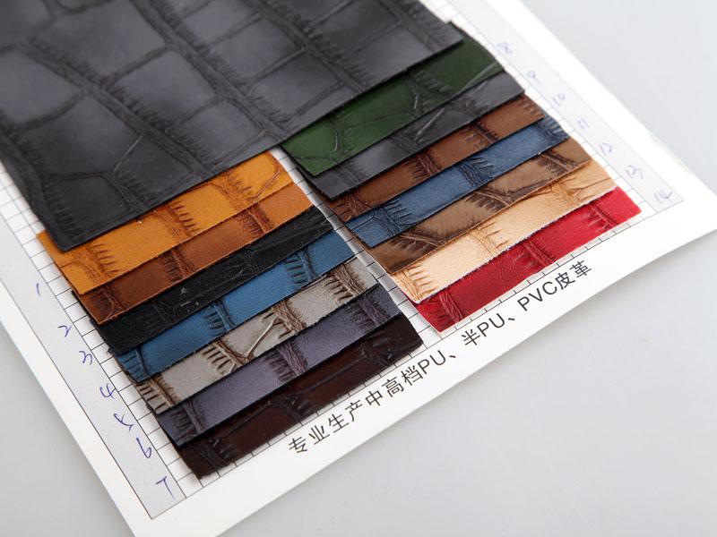 厂价直销S-0837大竹节纹PU革人造革/合成革图片三