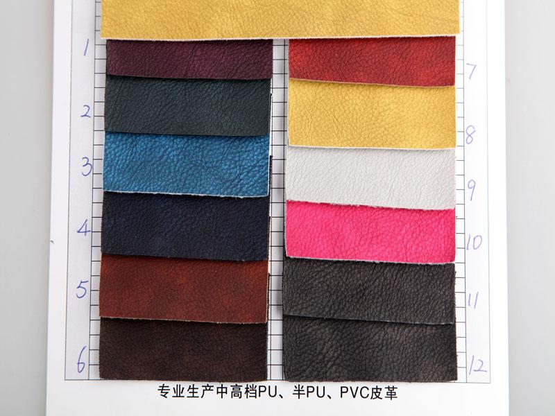 厂价直销R-238刮刀小荔枝纹PU人造革/合成革图片二