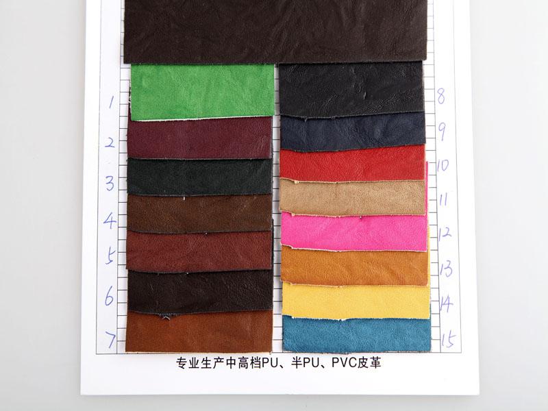 厂价直销R-240蜡感手掌纹PU人造革/合成革图片二