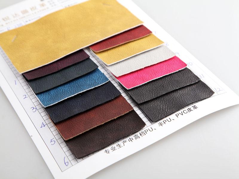 厂价直销R-238刮刀小荔枝纹PU人造革/合成革图片三