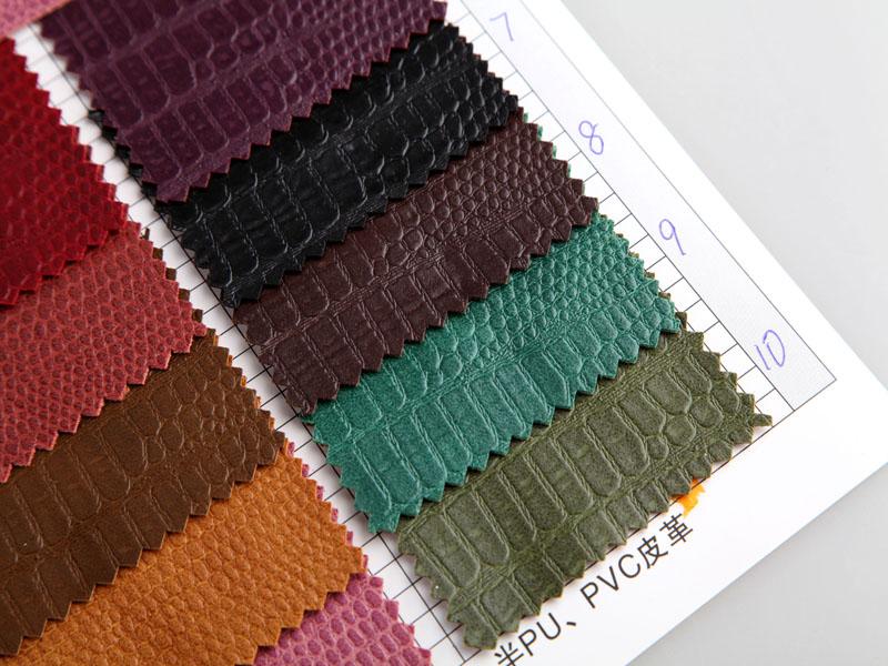 厂价直销R-809亚光中蛇纹PVC人造革图片三