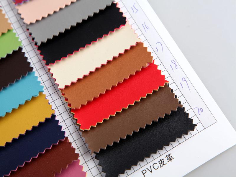 厂价直销R-811彩边小针纹PVC革/PVC人造革图片三