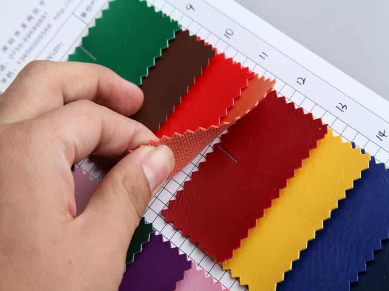 厂价直销512纹手掌纹PVC人造革/合成革图片五
