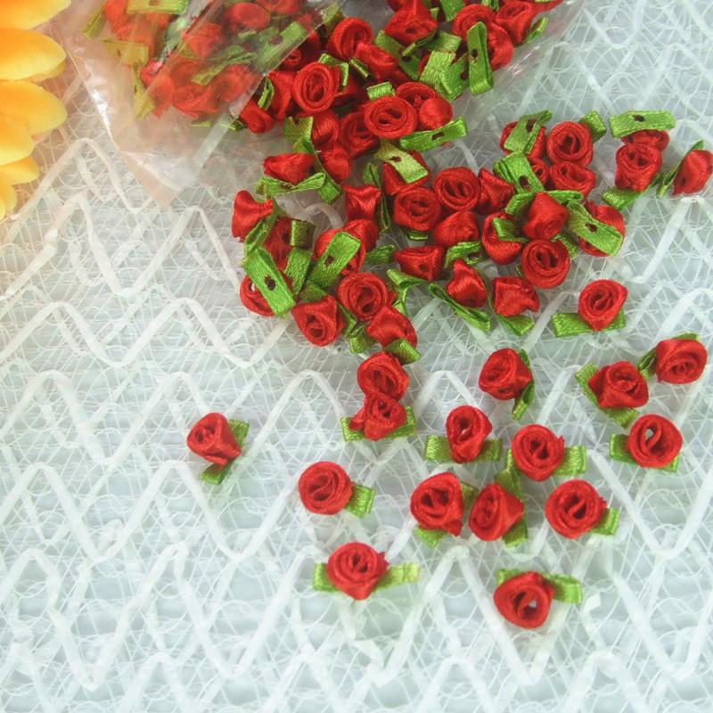 大量供应 织带小花 带叶玫瑰花 可来样加工图片三