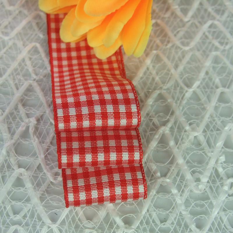 销售格子丝带 8分大红格子带 2.5公分大红色苏格兰带图片二