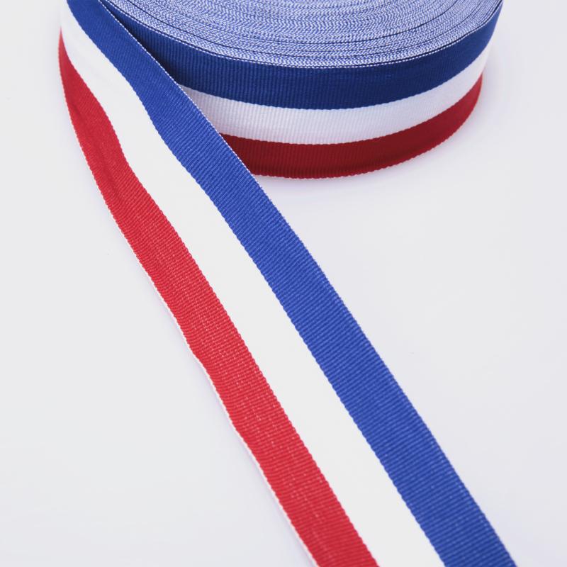 精品热销 4.0cm3色条织带 横纹宽织带图片二