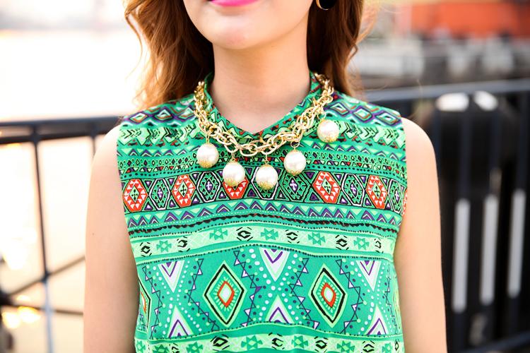 2014热卖夏季 原创女装设计波西米亚长裙新款连衣裙A362图片六