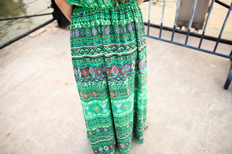 2014热卖夏季 原创女装设计波西米亚长裙新款连衣裙A362图片五