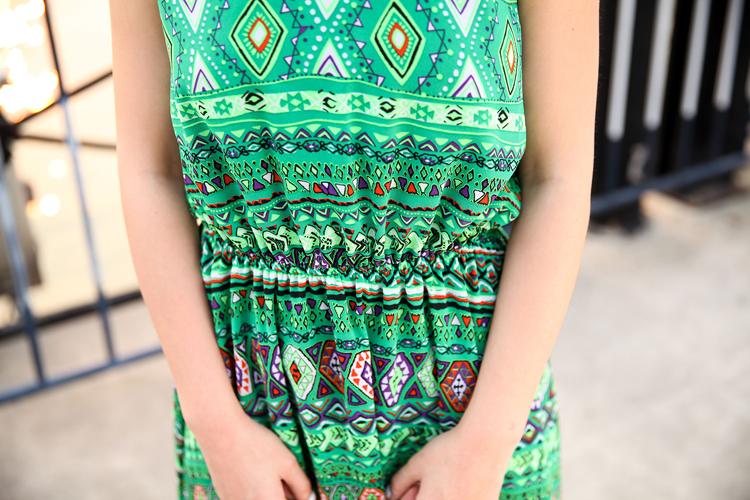 2014热卖夏季 原创女装设计波西米亚长裙新款连衣裙A362图片九
