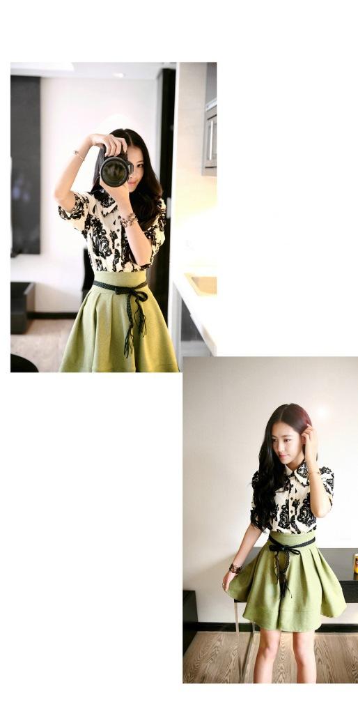 2014韩版明星同款 女装裙子连衣裙 夏季实体批发B355图片三