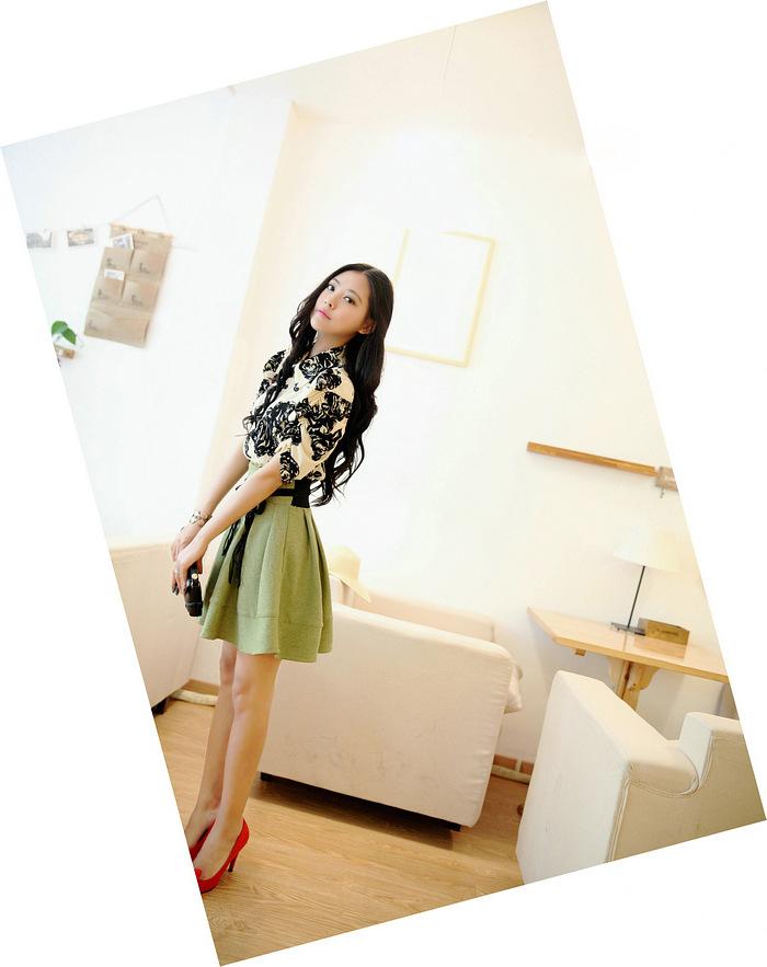 2014韩版明星同款 女装裙子连衣裙 夏季实体批发B355图片七