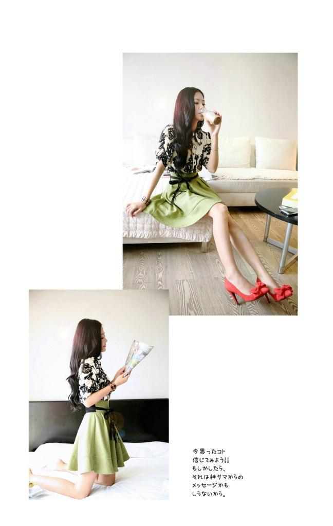 2014韩版明星同款 女装裙子连衣裙 夏季实体批发B355图片二