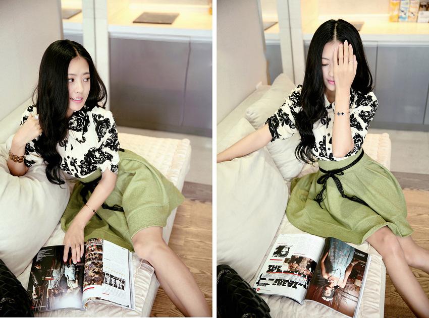 2014韩版明星同款 女装裙子连衣裙 夏季实体批发B355图片四