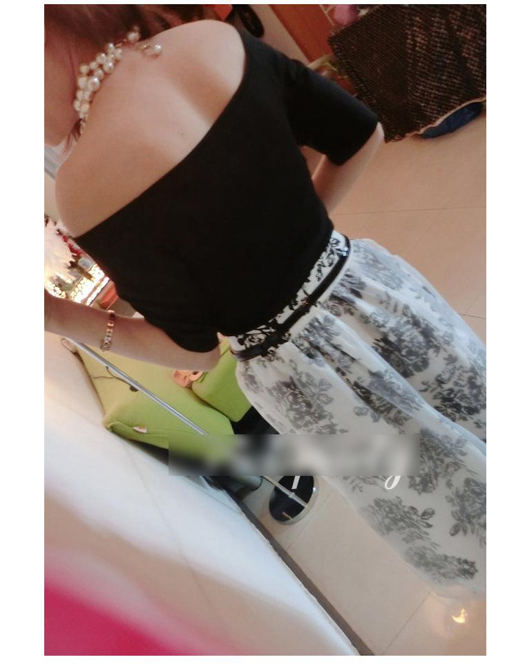 2014韩版欧根纱连衣裙 夏季女装新款两件套短袖裙子B353图片四