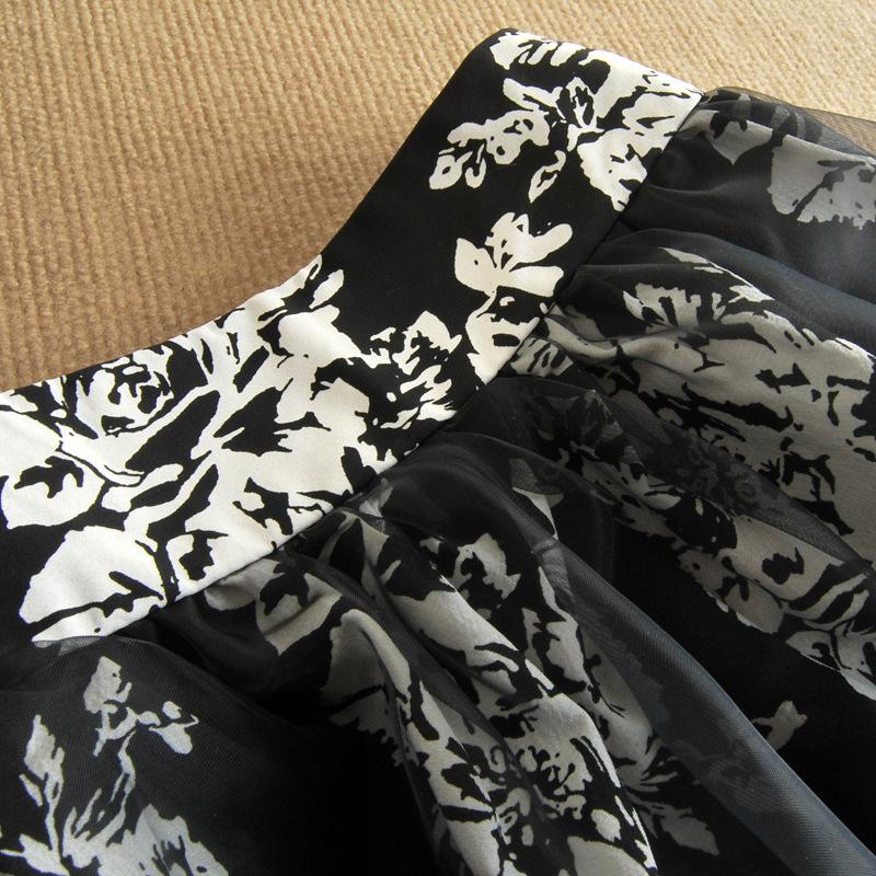 2014韩版欧根纱连衣裙 夏季女装新款两件套短袖裙子B353图片八