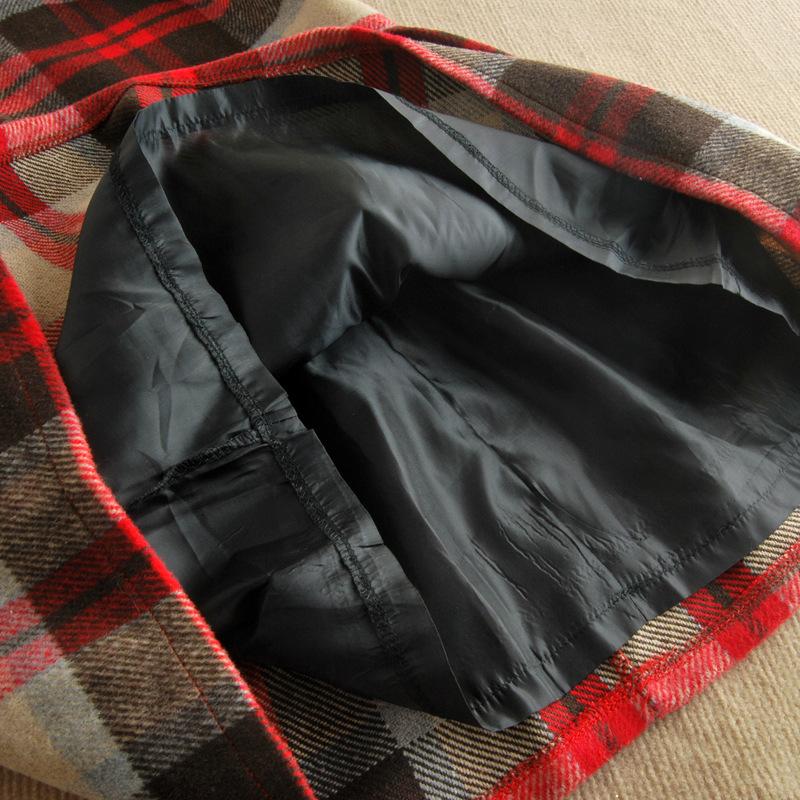 2014韩版女装 新款全棉格纹品牌长袖春装连衣裙批发B320图片七
