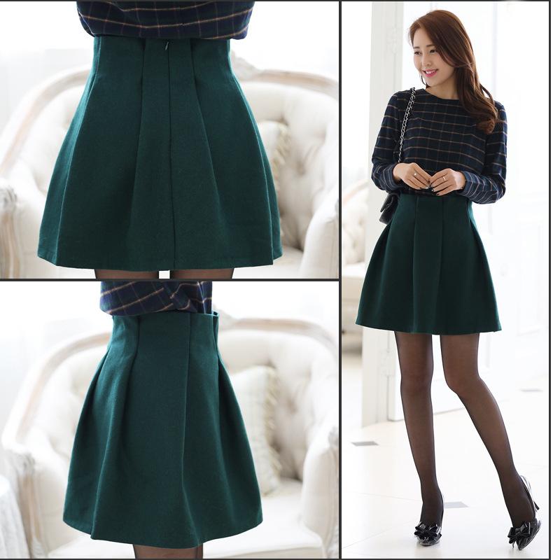 2014韩版爆款套装 品牌长袖春装热卖 新款连衣裙B321图片三